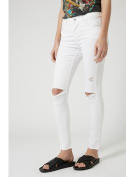 petite-moto-white-ripped-leigh-jeans by topshop