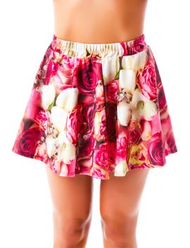pink-flower-patch-skater-skirt by terez