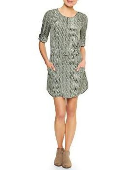 factory-print-shirttail-dress by gap