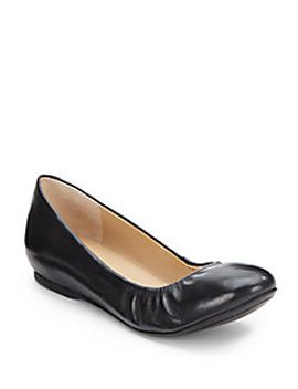 hidden-wedge-leather-ballet-flats by saks-fifth-avenue