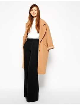 asos-premium-wide-leg-crepe-trousers by asos-collection
