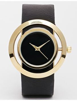 asos-open-circle-black-face-watch by asos-collection