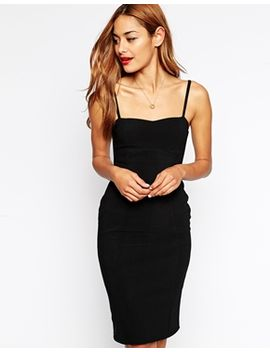 asos-90s-bodycon-dress-with-seamed-detail-in-rib by asos-collection