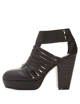 qupid-strappy-chunky-heel-booties by charlotte-russe