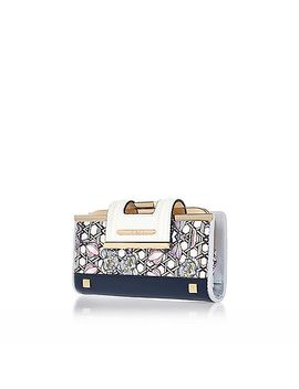 navy-floral-clip-top-purse by river-island