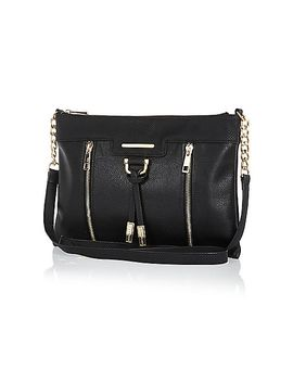 black-metal-trim-cross-body-bag by river-island