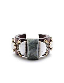mixed-stone-wooden-cuff-bracelet by jcrew