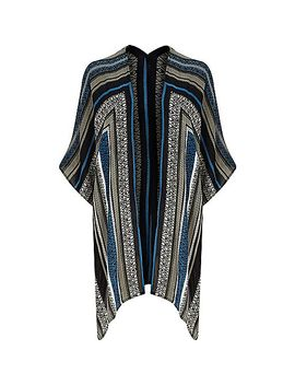 blue-aztec-print-throw-cape by river-island