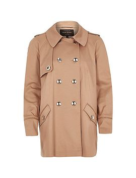 brown-cropped-trench-coat by river-island