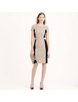 colorblock-chevron-dress-in-italian-tweed by jcrew