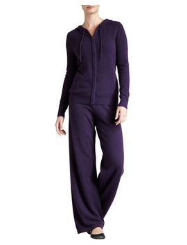 cashmere-hooded-jogging-set by neiman-marcus-cashmere-collection