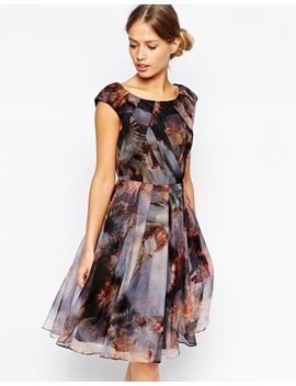 ted-baker-skater-dress-in-blooms-of-enchantment-print by ted-baker