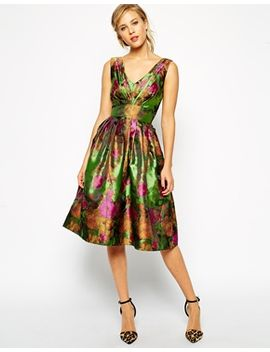 asos-floral-jacquard-prom-dress by asos-collection