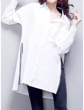 white-side-zipper-longline-shirt by choies