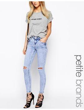 new-look-petite-mottled-rip-skinny-jean by new-look-petite