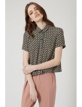 spot-print-swing-shirt by topshop