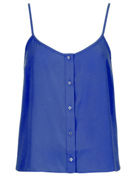 button-front-strappy-cami by topshop