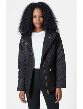sherbert-quilted-jacket by topshop