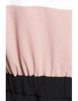 colorblock-crepe-pleated-dress by kate-spade-new-york