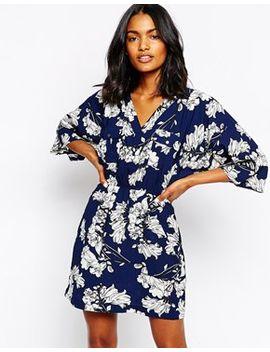 river-island-kimono-sleeve-deco-print-wrap-dress by river-island