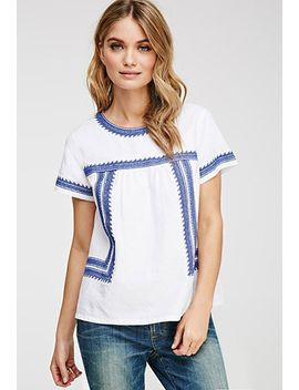 ornate-leaf-embroidered-top by forever-21