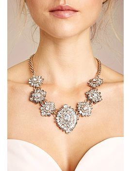 ornate-rhinestone-statement-necklace by forever-21