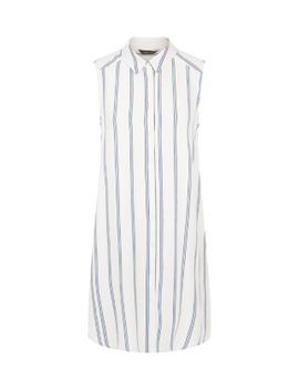 white-vertical-stripe-longline-shirt by new-look