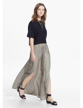 slit-hem-skirt by mango