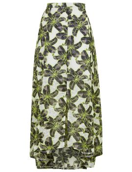 hibiscus-outline-maxi-skirt by topshop