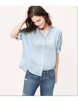 striped-dolman-softened-shirt by loft