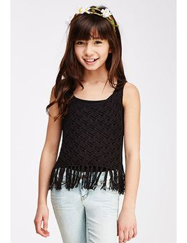 tasseled-crochet-tank-top-(kids) by forever-21