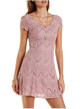 cap-sleeve-lace-skater-dress by charlotte-russe