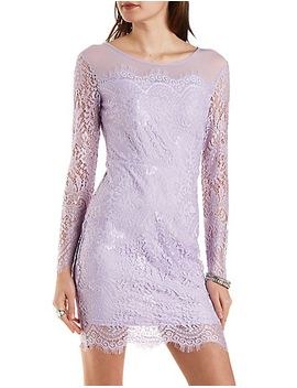 all-over-lace-midi-bodycon-dress by charlotte-russe