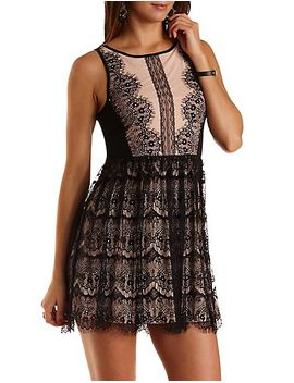 nude-lined-lace-skater-dress by charlotte-russe