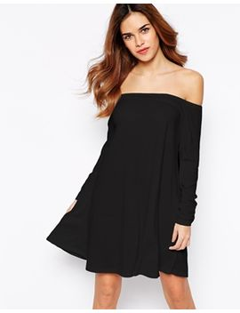 glamorous-off-shoulder-jersey-swing-dress by glamorous