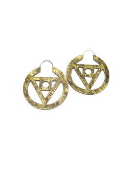 philosophers-stone-hoop-earrings,--philosophers-stone,-brass,-geometric-jewelry,-sacred-geometry,-large-brass-hoop-earrings,-made-in-ca, by rawelementsjewelry