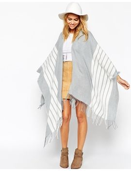 asos-grey-stripe-cape by asos-collection