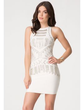 tribal-embellished-dress by bebe