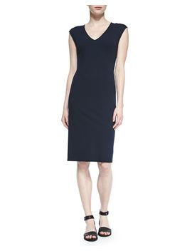 naepra-v-neck-crepe-dress by theory