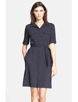 stenna-short-sleeve-shirtdress by theory