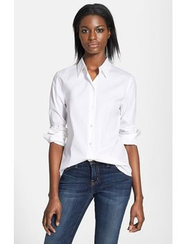 tenia-cotton-blend-blouse by theory