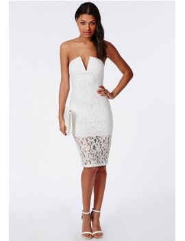 lace-bandeau-dress-white by missguided