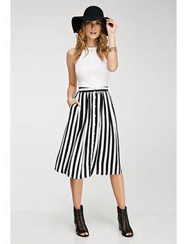 striped-midi-skirt by forever-21