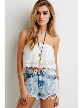 distressed-cloud-wash-cutoffs by forever-21
