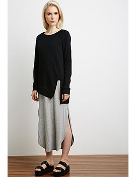 asymmetrical-side-vent-sweatshirt by forever-21