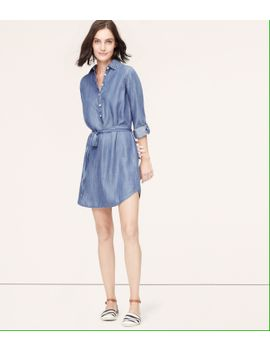 chambray-shirtdress by loft