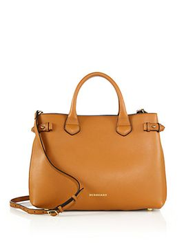 banner-medium-leather-satchel by burberry