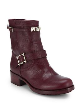 rouge-pebbled-leather-biker-boots by valentino