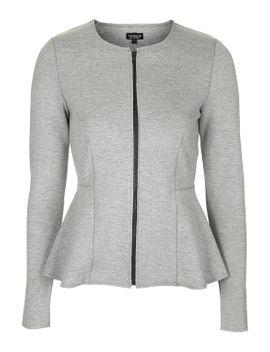 raw-edge-peplum-jacket by topshop