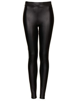 textured-leather-look-leggings by topshop